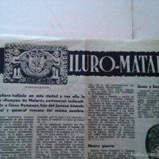 Coleccionismo de Revistas y Periódicos: MATARO - ILURO-MATARO – HOJAS DE REVISTA. Lote 58138785
