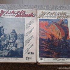 Coleccionismo de Revistas y Periódicos: HISTORIA BREVE DEL MUNDO -- LOTE DE 62 EJEMPLARES -- CASA EDITORIAL SEGUI - BARCELONA - . Lote 58212278
