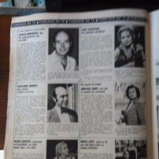 Coleccionismo de Revistas y Periódicos: RECORTE NURIA CARRESI AMPARO BARO LICIA CALDERON MARIA LASO VALERIANO ANDRES JUANJO MENENDEZ. Lote 58242736