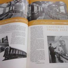 Coleccionismo de Revistas y Periódicos: ARTICULO 1958 - CAFETERIAS EN LOS TRENES - MODERNIZACION ATOCHA MADR - RENFE FERROCARRIL. Lote 58245828
