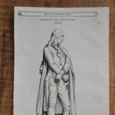 Coleccionismo de Revistas y Periódicos: HOJA REVISTA-GRABADO ORIGINAL 1856. ESCULTURA BAILLV MARCHANT AU SUPPLICE, MARMOL. Lote 58247230