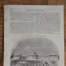 Coleccionismo de Revistas y Periódicos: HOJA REVISTA-GRABADO ORIGINAL 1856. JARDIN BOTÁNICO, EN BRUSELAS. Lote 58247241