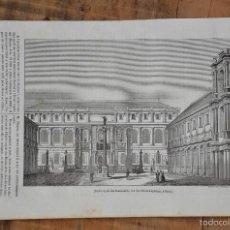 Coleccionismo de Revistas y Periódicos: HOJA REVISTA-GRABADO ORIGINAL 1856. ESCUELA REAL DE BELLAS ARTES, PARIS. Lote 58247287