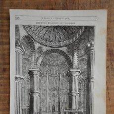 Coleccionismo de Revistas y Periódicos: HOJA REVISTA-GRABADO ORIGINAL 1856. CEREMONIAS MUSULMANAS, MEZQUITA D'ACHMET, CONSTANTINOPLA. Lote 58247293