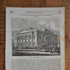 Coleccionismo de Revistas y Periódicos: HOJA REVISTA-GRABADO ORIGINAL 1856. LA FONDIQUE DES POISSONNIERS, LONDRES. Lote 58247320