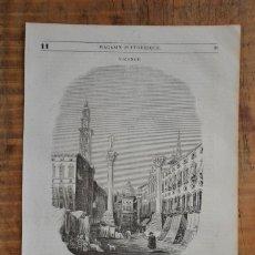 Coleccionismo de Revistas y Periódicos: HOJA REVISTA-GRABADO ORIGINAL 1856. UNA PLACE DE VICENCE, EN LOMBARDIE. Lote 58247331