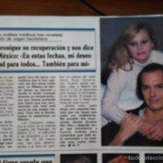 Coleccionismo de Revistas y Periódicos: RECORTE ROCIO DURCAL Y JUNIOR. Lote 104453460