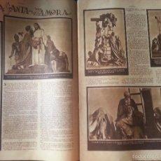 Coleccionismo de Revistas y Periódicos: AÑO 30 / 40 DOBLE PAGINA PRENSA SEMANA SANTA ZAMORA VIRGEN SOLEDAD CRISTO DESCENDIDO BESO DE JUDAS. Lote 58293470