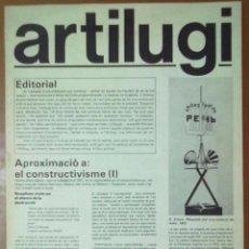 Coleccionismo de Revistas y Periódicos: REVISTA ARTILUGI Nº 1 DESEMBRE 1977 APROXIMACIO CONSTRUCTIVISME . Lote 58310246