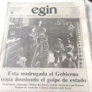 Coleccionismo de Revistas y Periódicos: GOLPE TEJERO EGIN. Lote 58322587