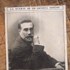 Coleccionismo de Revistas y Periódicos: HOJA REVISTA ORIGINAL 1909. MUERTE DEL ESCULTOR DE TORTOSA, AGUSTÍ QUEROL. NOCHEBUENA BRETAÑA. Lote 58343660