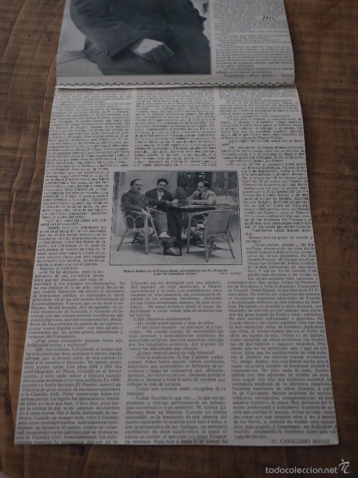ENTREVISTA DE REVISTA ORIGINAL 1915 AL ESCRITOR Y PERIODISTA VALENCIANO, VICENTE BLASCO IBAÑEZ (Coleccionismo - Revistas y Periódicos Antiguos (hasta 1.939))
