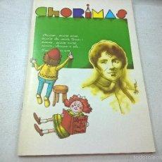 Coleccionismo de Revistas y Periódicos: CHORIMAS-.MAIO 1985-N. Lote 58381892