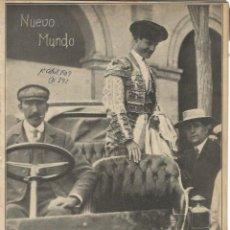 Coleccionismo de Revistas y Periódicos: NUEVO MUNDO Nº 795 - A LA PLAZA EN AUTOMOVIL - 1 - ABRIL DE 1909. Lote 58397059