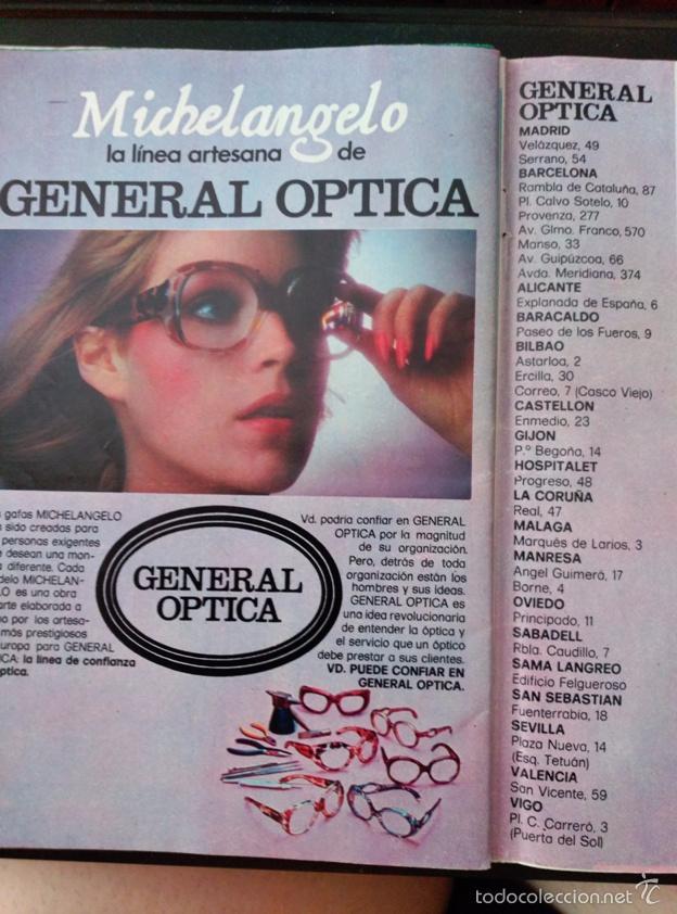 ccb2e91a1c RECORTE MICHELANGELO EN GENERAL OPTICA (Coleccionismo - Revistas y  Periódicos Modernos (a partir de ...