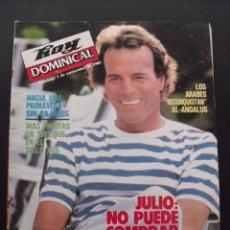 Coleccionismo de Revistas y Periódicos: REVISTA HOY DOMINICAL. NOVIEMBRE 1981. JULIO IGLESIAS.. Lote 58405950
