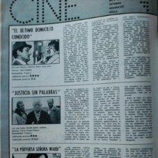 Coleccionismo de Revistas y Periódicos: RECORTE EDWIGE FENECH JEAN GABIN LINO VENTURA. Lote 58412193