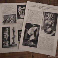 Coleccionismo de Revistas y Periódicos: REPORTAJE REVISTA ORIGINAL ANTIGUO. BROMA PESADA, EXPOSICION ARTE NOVISIMO SIN JURADO EN BERLIN. Lote 58420101