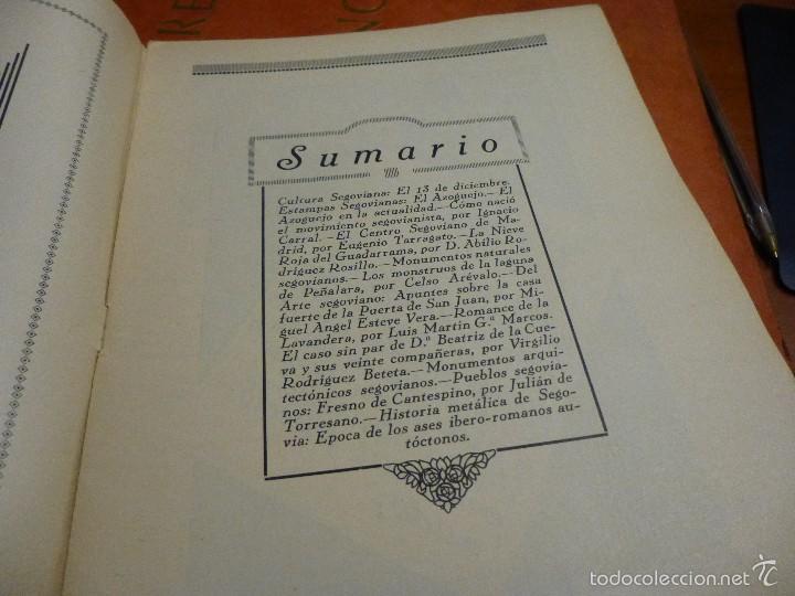 Coleccionismo de Revistas y Periódicos: cultura segoviana, numeros 1 - 3 - 4 - 5 - 6 - 7 del año 1932 - Foto 3 - 58439226
