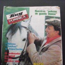 Coleccionismo de Revistas y Periódicos: REVISTA HOY DOMINICAL. ENERO 1982. PACO RABAL.. Lote 58440300