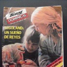 Coleccionismo de Revistas y Periódicos: REVISTA HOY DOMINICAL. ENERO 1982. LEGOLAND.. Lote 58440334