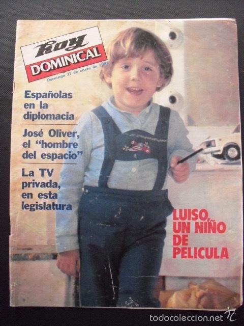 REVISTA HOY DOMINICAL. ENERO 1982. LUISO,UN NIÑO DE PELÍCULA. (Coleccionismo - Revistas y Periódicos Modernos (a partir de 1.940) - Otros)