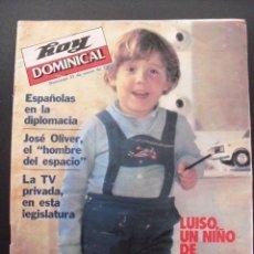 Coleccionismo de Revistas y Periódicos: REVISTA HOY DOMINICAL. ENERO 1982. LUISO,UN NIÑO DE PELÍCULA.. Lote 58441527