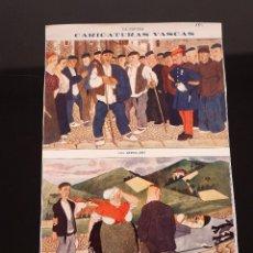 Coleccionismo de Revistas y Periódicos: HOJA REVISTA ORIGINAL 1915. CARICATURAS VASCAS, LOS BERSOLARIS. Lote 58452499