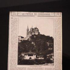 Coleccionismo de Revistas y Periódicos: HOJA REVISTA ORIGINAL AÑOS 10. LA PATRIA EN COVADONGA. Lote 58456405