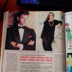 Coleccionismo de Revistas y Periódicos: RECORTE LORENZO LAMAS ANA ALICIA FALCON CREST. Lote 141148054
