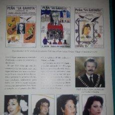 Coleccionismo de Revistas y Periódicos: HOJA REVISTA FLAMENCO MARIANA CORNEJO JUAN VILLAR CARME DE LA JARA CAMARON DE LA ISLA CHANO LOBATO. Lote 58488558