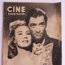 Coleccionismo de Revistas y Periódicos: CINE MUNDO Nº112. 1954. GINGER ROGERS EN SAN SEBASTIAN,. Lote 58498659