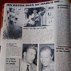 Coleccionismo de Revistas y Periódicos: RECORTE PATRICK SWAYZE SERA EL CORDOBES BOB KENNEDY . Lote 58499183