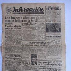Coleccionismo de Revistas y Periódicos: INFORMACION DIARIO DE FALANGE ESPAÑOLA ALICANTE 14 NOVIEMBRE 1941 DIVISION AZUL . Lote 58513726