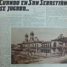 Coleccionismo de Revistas y Periódicos: REVISTA 1935.CASINO SAN SEBASTIÁN.. Lote 58517927
