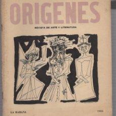 Coleccionismo de Revistas y Periódicos: REVISTA ORIGENES. REVISTA DE ARTE Y LITERATURA. Nº 39. LA HABANA. 1955. AÑO XII. Lote 58603798
