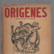 Coleccionismo de Revistas y Periódicos: REVISTA ORIGENES. REVISTA DE ARTE Y LITERATURA. Nº 38. LA HABANA. 1955. AÑO XII. Lote 58603802