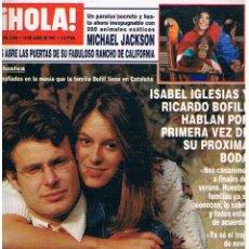 Coleccionismo de Revistas y Periódicos: REVISTA HOLA - MICHAEL JACKSON. Lote 58689613