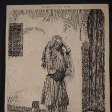 Coleccionismo de Revistas y Periódicos: HOJA GRABADO REVISTA ORIGINAL SIGLO XIX. HADICHA, MORA EN TRAJE DE CASA, POR PELLICER. Lote 58746388