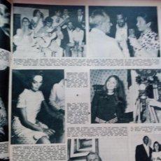 Coleccionismo de Revistas y Periódicos: RECORTE MAXIMILIAN SCHELL DYAN CANNON IRA DE FURSTENBERG LALLA VALDONI KARIM SKARRESO. Lote 58919680