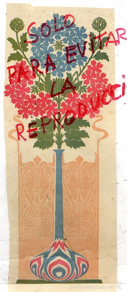 ILUSTRACION MODERNISTA 1900 HOJA REVISTA (Coleccionismo - Revistas y Periódicos Antiguos (hasta 1.939))