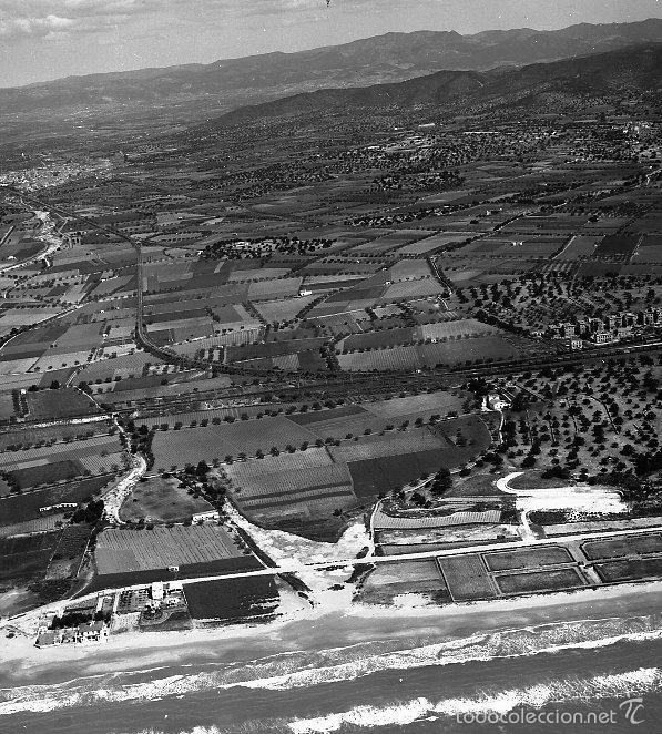 SAN SALVADOR-EL VENDRELL 1958 VISTA AEREA NEGATIVO 12 X 12 CM. (Coleccionismo - Revistas y Periódicos Antiguos (hasta 1.939))