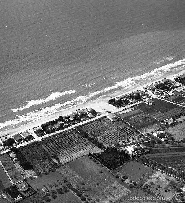 COMARRUGA-SAN SALVADOR 1958 VISTA AEREA NEGATIVO 12 X 12 CM. (Coleccionismo - Revistas y Periódicos Antiguos (hasta 1.939))