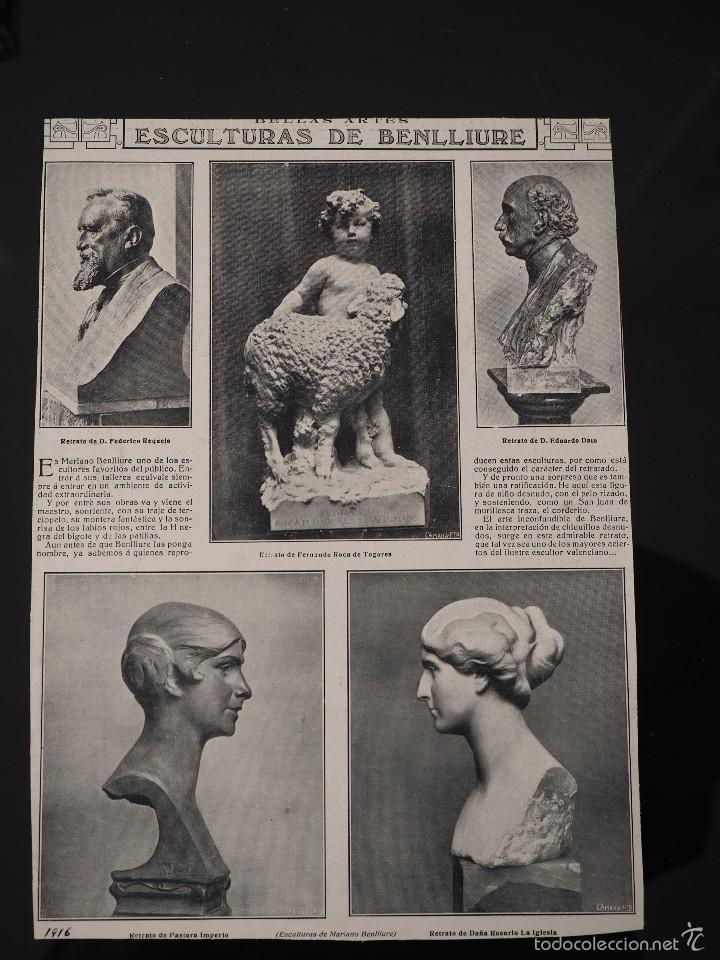 HOJA REVISTA ORIGINAL AÑOS 10. ESCULTURAS DE BENLLIURE (Coleccionismo - Revistas y Periódicos Antiguos (hasta 1.939))
