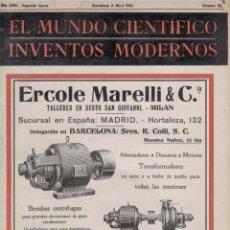 Coleccionismo de Revistas y Periódicos: EL MUNDO CIENTÍFICO, INVENTOS MODERNOS. Nº 55. ABRIL 1.916. INCLUYE LÁMINA POP-UP. Lote 59818476
