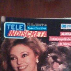 Coleccionismo de Revistas y Periódicos: REVISTA TELE INDISCRETA N'207 DEL 28 AL VIERNES 3 DE FEBRERO. AÑO 1989. Lote 59864656