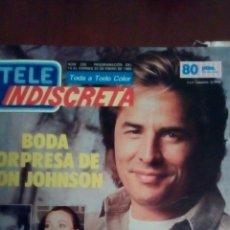 Coleccionismo de Revistas y Periódicos: REVISTA TELE INDISCRETA N'205 - 14,AL VIERNES 20 DE ENERO AÑO 1989.. Lote 59865040