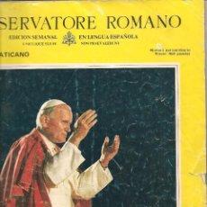 Coleccionismo de Revistas y Periódicos: LÓSSERVATORE ROMANO. VIAJE APOSTÓLICO DE JUAN PABLO II A ESPAÑA. .(Z38). Lote 59931319