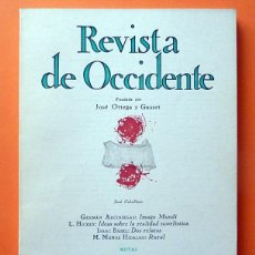 Coleccionismo de Revistas y Periódicos: REVISTA DE OCCIDENTE Nº 109 - ABRIL 1972 - VV. AA. - VER INDICE. Lote 59979175