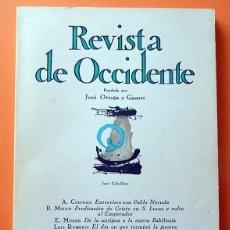 Coleccionismo de Revistas y Periódicos: REVISTA DE OCCIDENTE Nº 111 - JUNIO 1972 - VV. AA. - VER INDICE. Lote 59979427